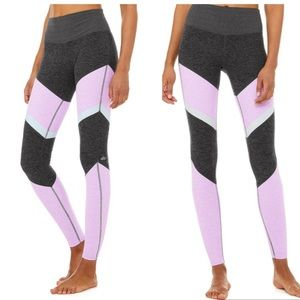 alo grey ultraviolet high waist sheila legging XS